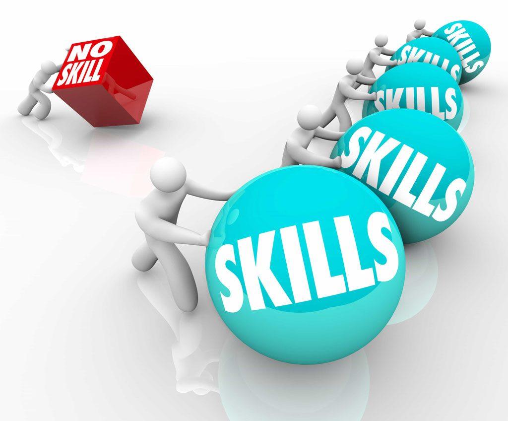 Money Skills Lab™- men rolling large skills balls