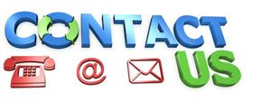 Contact Us - phone, email, mail icons