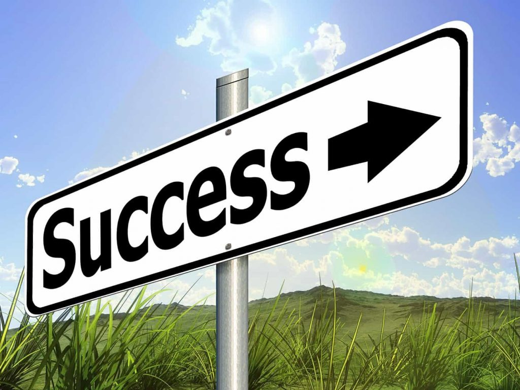 We help you live a better life - success sign