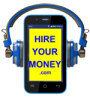 Hire Your Money® Course logo - smartphone with headphones