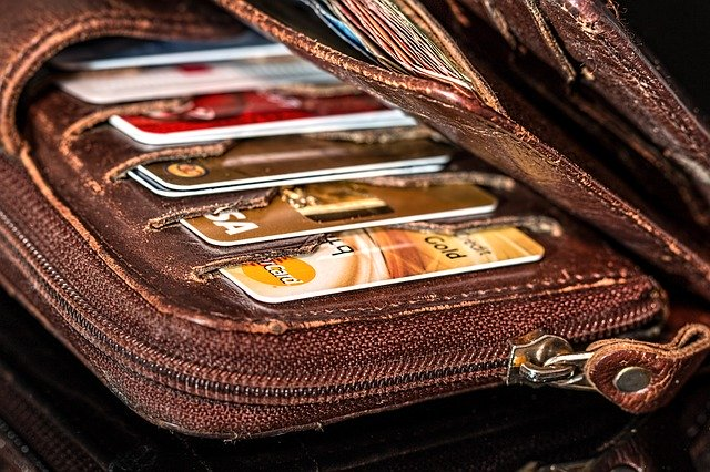 Wallet with too many credit cards